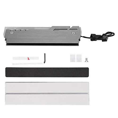 Enfriador de memoria RAM ARGB, disipador de calor DDR3 / DDR4 de 5 V y 3 pines con 12 luces de colores RGB256, carcasa de RAM de aleación de aluminio para chaleco de refrigeración LED de computadora (