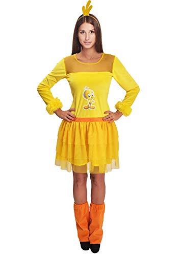 Ciao Titti Looney Tunes Costume Originale Donna (Taglia Adulto) Disfraces, Amarillo, Talla nica para Mujer