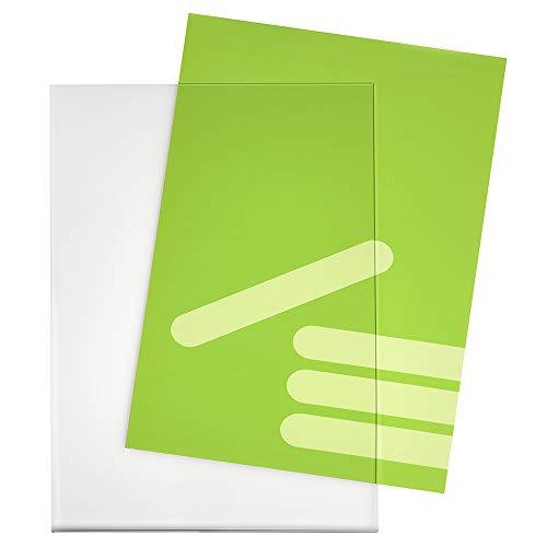 DIN A4 Hoch (210x297mm) Plakattasche aus Acrylglas für Einzelblätter/Infotasche/Blatthalter/Plakathalter/Schildhalter/Preisschildhalter/Transparent - Zeigis®