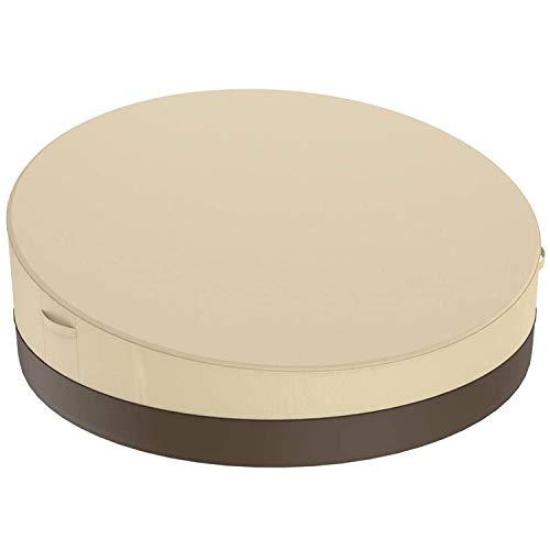 WOVELOT Terrace Round Sofa Bed Cover 90 Inches, 420D Outdoor Garden Furniture Cover Oxford Cloth Sofa Bed Cover
