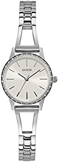 Guess Dress Watch for Women, Stainless Steel Case, White Dial, Analog -GW0025L1