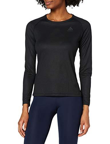 Odlo BL Top Crew Neck L/S Active F-Dry Light Shorts Femme Black FR: 2XL (Taille Fabricant: XXL)