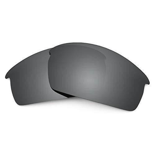 Revant Verres de Rechange Compatibles avec Oakley Bottlecap, Polarisés, Chrome Noir MirrorShield