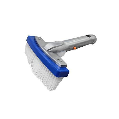 """GEZICHTA Heavy Duty Pool Brush Durable 5.5"""" Swimming Pool Cleaner Brush Best for Tackling Stubborn Stains Floor Cleaning Brush Tile Brush Suitable for Concrete & Gunite Pools"""