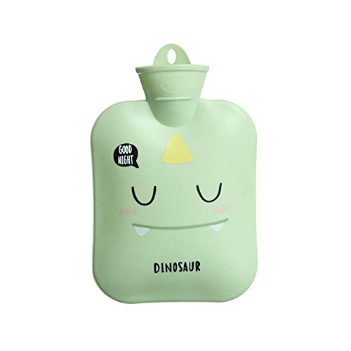 NYKK Sichere Wärmeflasche Wassereinspritzung Warmwasserflasche simles Warmwassertasche Cartoon Explosionssicher Wärme- Kältebehandlung (Color : D)