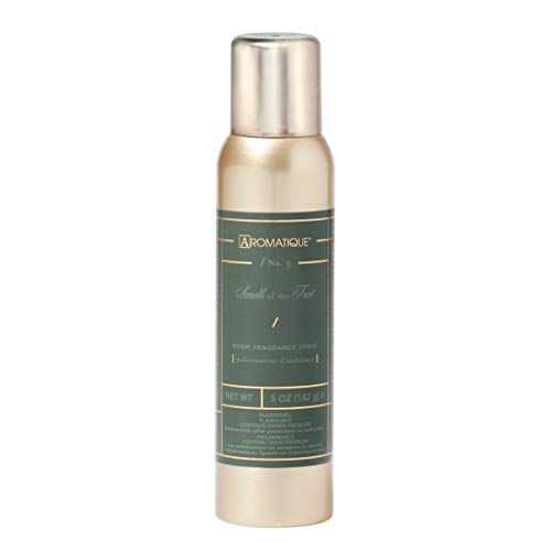 Aromatique The Smell of Tree Fragrant Aerosol Room Spray in 5 oz Gold Bottle for Home Decor and Gift