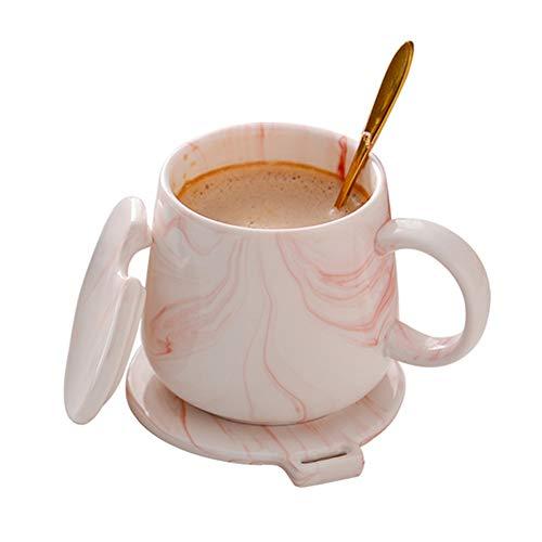CLX Kaffeetasse Schale Set Becher Startseite Wasser Tasse Tee Tasse Perlmutt Coffee-to-Go Bambus-Becher,Lightpink