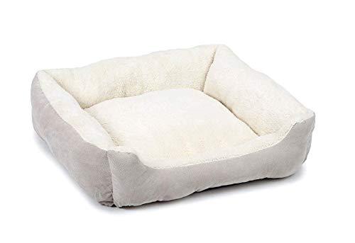 Beeztees Mogina - Hundebett Hundekissen Hundedecke - grau/weiß - 65x60x20 cm