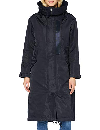 G-STAR RAW Damen Long Hooded Parka, Mazarine Blue C416-4213, Large