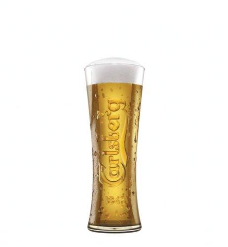 Verres demi-pinte bouteille Carlsberg bocs 280 ml (Lot de 4) - 4...