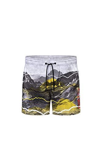 Bogner Fire + Ice Mens Nelson2 Gelb-Grau, Herren Bademode, Größe 52 - Farbe Neutral Flash