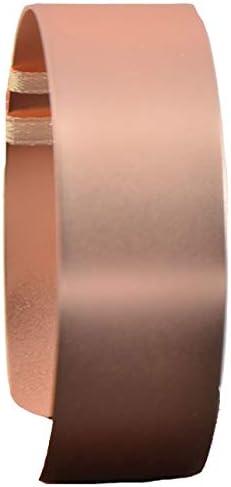 Floral Corsage Bracelet - Riley Flower Cuff - Matte Rose Gold