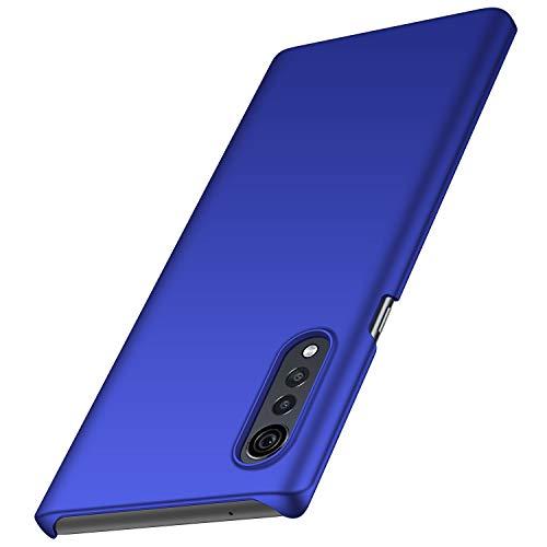 Arkour Kompatibel mit LG Samthülle, minimalistisch, ultradünn, schlankes Design, hervorragende Griffigkeit, Hartschale für LG Velvet, blau