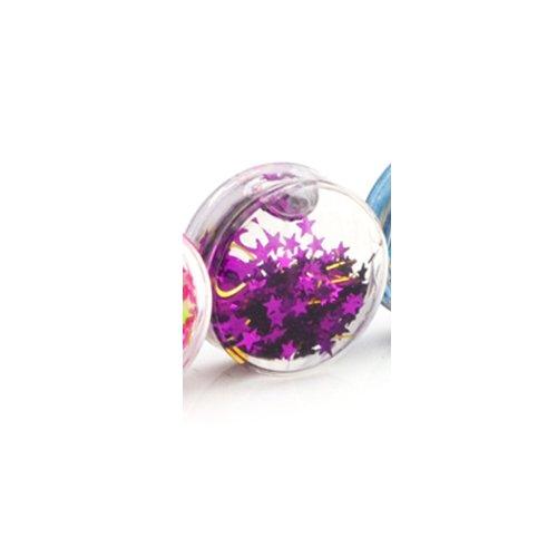 Joyería del cuerpo del enchufe del túnel de acrílico Gekko/del bastidor con color de líquido Gliiter - 20 mm