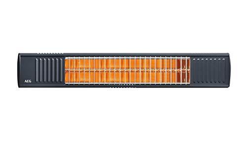 AEG Haustechnik Terrassen-Heizstrahler IR Premium 2000 A, 2 kW, hochheffiziente Qualitäts-Goldröhre, nicht rostend, ungeschützer Außenbereich, anthrazit, 234787