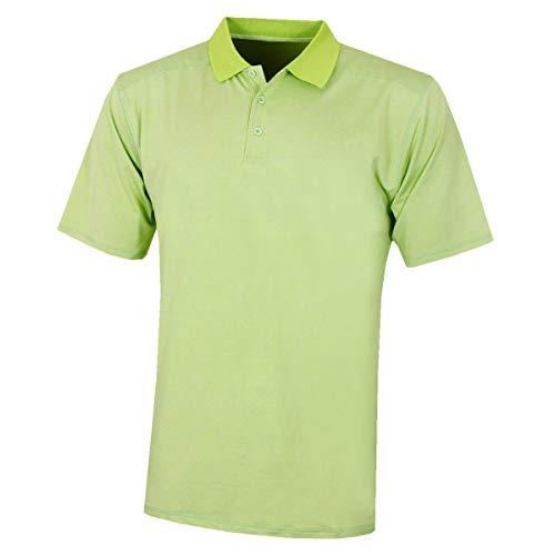 Island Green - Golf-T-Shirts für Herren in Gelbgrün, Größe XL