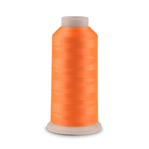 SUPVOX 3000 Yards Spool Night Light Glow in The Dark Machine Polyester Sewing Thread Orange