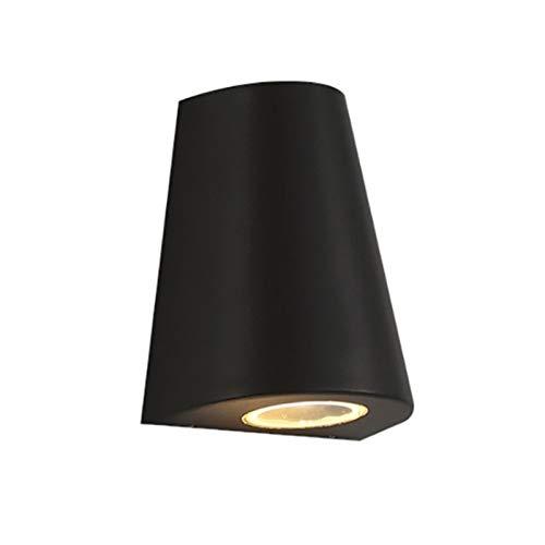 YXLMAONY Lámpara de pared de una sola cabeza led moderna, irradiate Up y Abajo de iluminación Lámpara de pared, lámpara de aluminio Cuerpo y transmisión de luz Lámpara de cristal de transmisión son ad