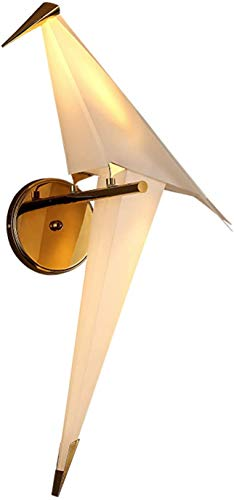 GIOAMH Lámpara de pared LED, lámpara de pared de pájaro de origami creativo, lámpara de noche, aplique de pared de plástico de metal para habitación de niños para sala de estar, dormitorio, pasillo,