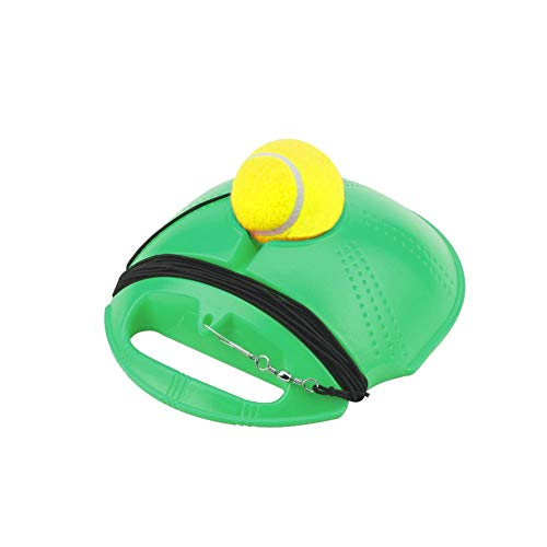 Yunhigh-uk Equipo de Entrenamiento de Tenis, Entrenador de Pelota de Tenis, Tennis Base Board Tennis Training Aids Tool Accesorios para niños Adultos Principiantes Solteros