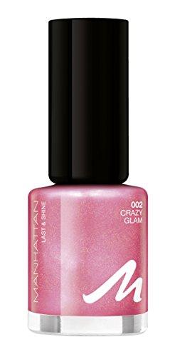 Manhattan Last & Shine Holographic Nail Polish, Farbe 002 Crazy Glam, Nagellack mit holographischem Effekt, 1er Pack (1 x 8 ml)
