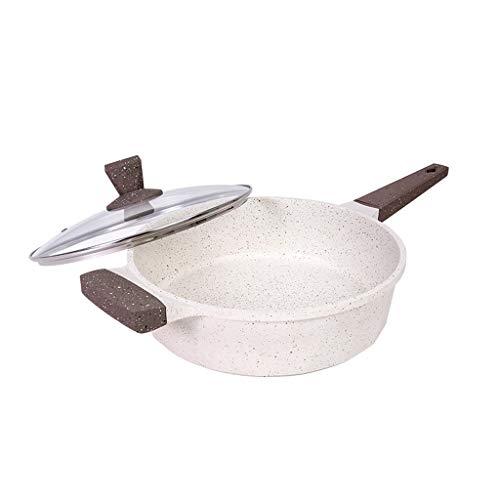 FXJ Uso polivalente Antiadherente Sartén con Maifan Piedra Revestimiento del Huevo Frito Carne Sartenes Cocina de inducción Horno de Calor Cocina Pan Utensilios de Cocina Utensilios de Cocina