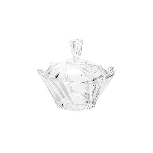 Rojemac Bomboniere de Cristal com Tampa Ikaro Bohemia, Transparente
