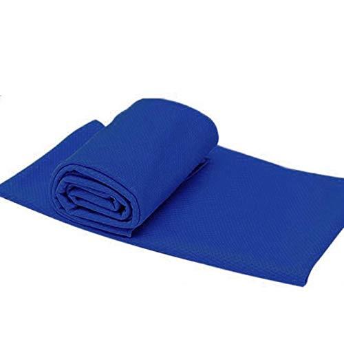 NGDDGS 90 * 35cm Kältegefühl Badetuch Trocknen Reisen Sport Schwimmenbad Körper Handtuch Yoga Sport-Handtuch (Color : Blue)