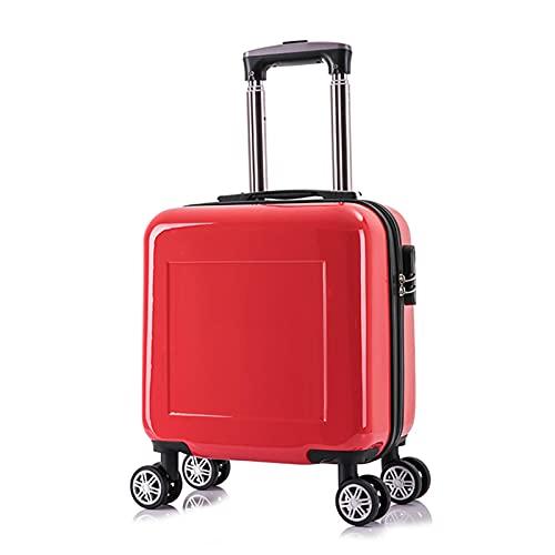 FGHHJ - Valigia piccola da 14', bagaglio per bambini, bagaglio da viaggio, custodia rigida leggera con 4 ruote, colore: Rosso
