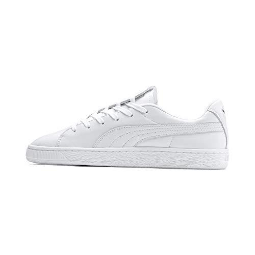 Puma Damen Basket Crush Emboss WN's Sneaker, Weiß White Silver, 37 EU