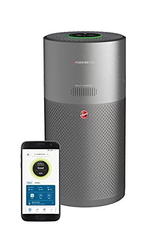 Hoover H-PURIFIER 500 Luftreiniger, HEPA-13-Filter, entfernt bis zu 99,97{2609cdfdcf0ecdf7874ffe5fe709494b8cb844abb96cbdabcb3150535db1aa8a} der Allergene, Pollen & Staubpartikel, Raumgröße: 110 m², Multi-Sensor, Aroma-Diffusor, WiFi/Bluetooth, Farbe: Titan, HHP55CA