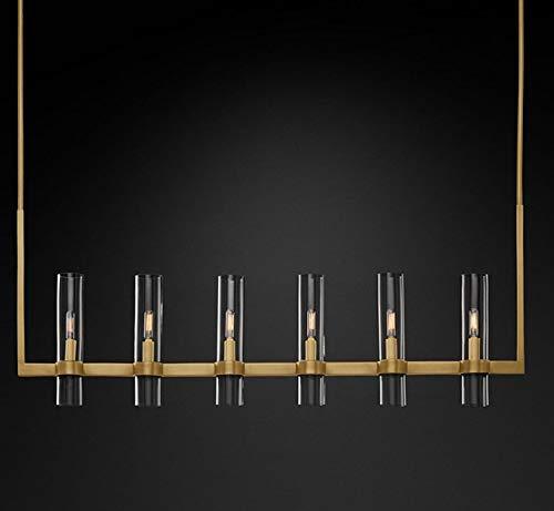 LILICEN Luces colgantes American Loft RH E14 llevó la lámpara del oro/Negro/Cromo pendiente de la lámpara de iluminación Foyer de cristal retro iluminación LED Sombras