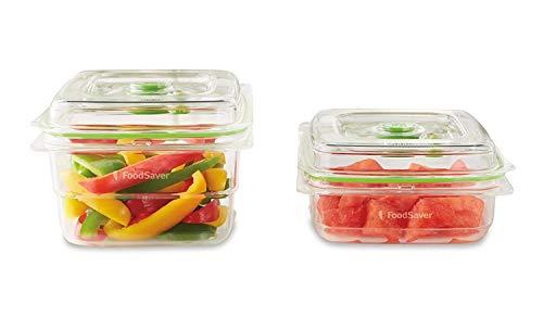 Foodsaver FFC015X Frischebehälter, 700 ml und 1,2 L aus robustem Kunststoff Tritan