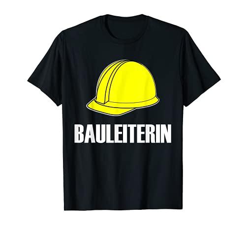Jefa de la construccin, disfraz de constructor, casco de obrero. Camiseta