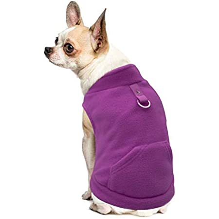 EXPAWLORER Fleece Autumn Winter Cold Weather Dog Vest Harness Clothes with Pocket for Small Dogs