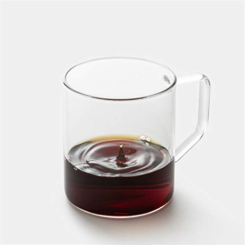 ZPEE Vasos de Vidrio Modernos Taza Clara con Mango, Bebida Caliente de café, Tazas de Vidrio Tazas de té Latte Cappuccino Tazas de café Juego de Vasos de Vidrio