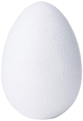 GLOREX Styropor-Ei, Weiß, 6 CM