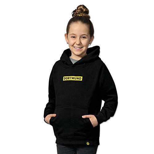 Borussia Dortmund BVB-Box-Logo-Hoodie Kinder schwarz 140