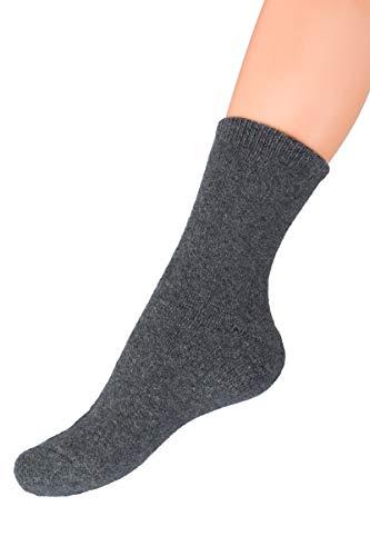 SOFTSAIL Damen-Socken, super warm, knöchellang, dick, gesichert, elastischer Stoff, Basic-Stil, FS7271 Gr. Medium, grau