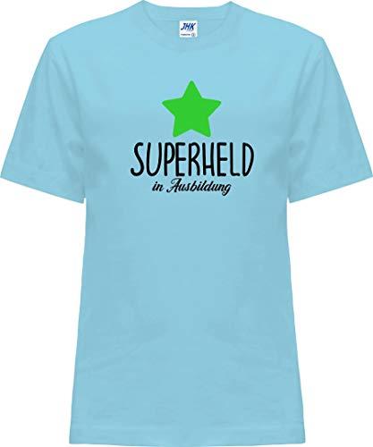 Kleckerliese Nicki T-shirt à manches courtes pour bébé et fille Motif super héros - Bleu - 0 ans