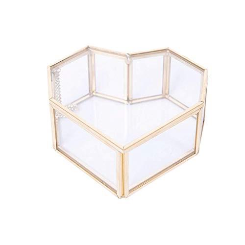 CMXUHUI Exquisita, a la moda, generosa, digna de posses joyero europeo retro a prueba de polvo caja de almacenamiento creativa eterna flor anillo caja de joyería de boda