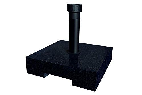 BEST Schirmständer 40 kg Beton, granit, 40 x 40 x 11 cm, 62440050