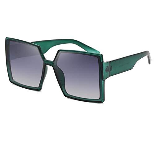 Gafas de sol de las mujeres de las mujeres de moda gafas de sol con caja grande gafas