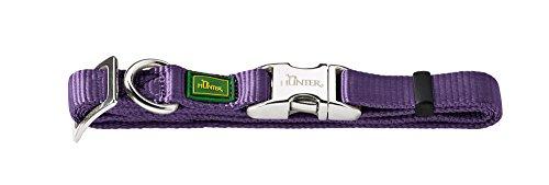 HUNTER Hundehalsung Vario-Basic ALU-Strong, M, Nylon, violett
