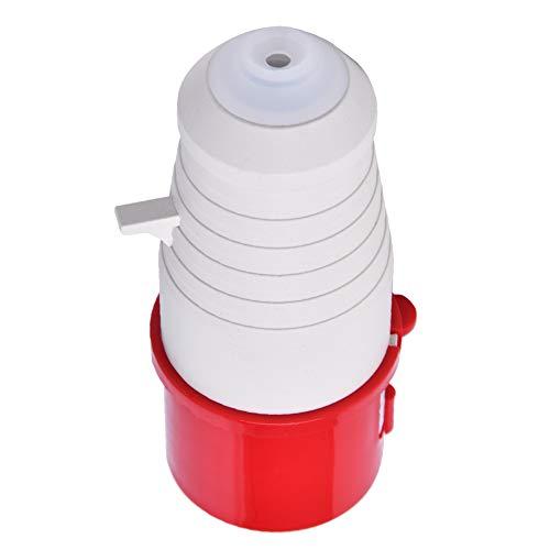 Enchufe industrial, fácil de instalar un enchufe industrial; conector de casquillo; tapón eléctrico 125 x 53 x 53 mm de plástico 16 A (rojo + gris).
