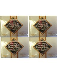 Trader Joe's Next to Godliness Oatmeal & Honey Soap 4oz - Pack of 2 (Four Pack (8 bars))