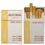 Honeyrose Sabor Vainilla Libre De Nicotina Tabaco Gratis De Hierbas Cigarros Paquete De 20