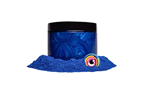 """Mica Powder Pigment """"Pacific Blue"""" (50g) Multipurpose DIY Arts and Crafts Additive   Woodworking, Epoxy, Resin, Natural Bath Bombs, Paint, Soap, Nail Polish, Lip Balm (Pacific Blue, 50G)"""