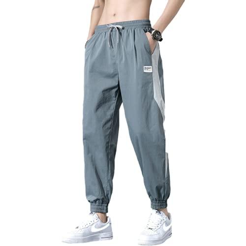 Pantalones Casuales para Hombre, Pantalones Deportivos Holgados Informales Finos de Verano, Pantalones Harem...