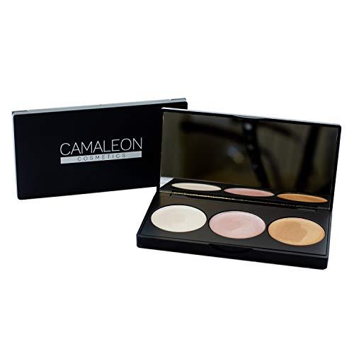 Camaleon Cosmetics, Paleta Iluminadores 100% naturales, 1 unidad, 7.5g